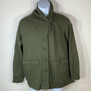 Orvis Womens Sz Small Green Button Up